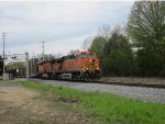 BNSF 5723 leads a 16,000 ton coal drag