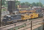 C&O GP39 3909 and a trio of cabooses
