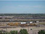 Three UP yard switching trains