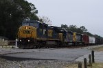 CSX 7822 North w/ YN2 SD40-2 trailing