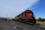 CN SD60 leads EB UP empty pipe train