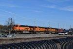 BNSF 5834 leads WB oil train