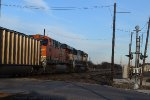 BNSF 9828 SB coal train