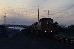 UP 9747 EB work train