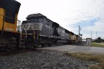NS SD60E trails on WB Intermodal