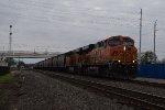 BNSF 7403 SB grain train