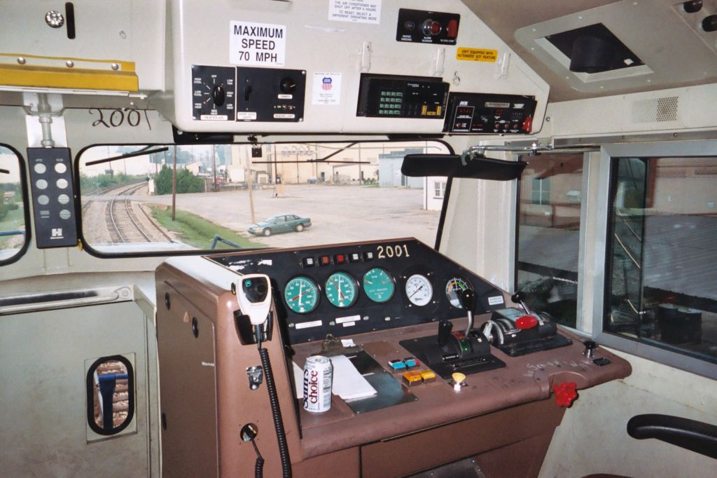In-Cab of UP 2001.