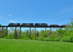 NS 9481,NS 7559,NS 8072 over Pope Lick Trestle.