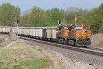 BNSF 4769 Work's Dpu on a Westbound Cargill train.