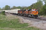 BNSF 7545 Leads a 4 Pack of Ge's east.