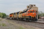 BNSF 2888 Leads the local past the old Santa Fe coal towers.