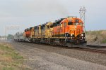BNSF 2888 Get's under speed with some cool local power.