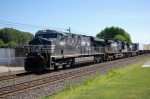 NS 7626 leads a westbound past the Railfan Park