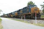 CSX rock train and local power