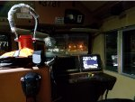 Cab view from engineer's side of New BNSF 3781 behind sister unit BNSF 3778 on outbound Manifest Memphis-Birmingham.