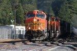 Westbound BNSF approaching Colfax Depot