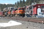 Eastbound BNSF going through downtown Truckee