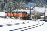 BNSF 6316 eastbound approaching downtown Truckee