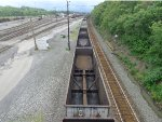 Coal empties rolling west