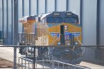 UP 2560 A Very, Very, Brand C45AH Just Built here at GE Fort Worth sits on the Test Track,