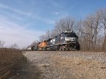 NS 9877 and BNSF