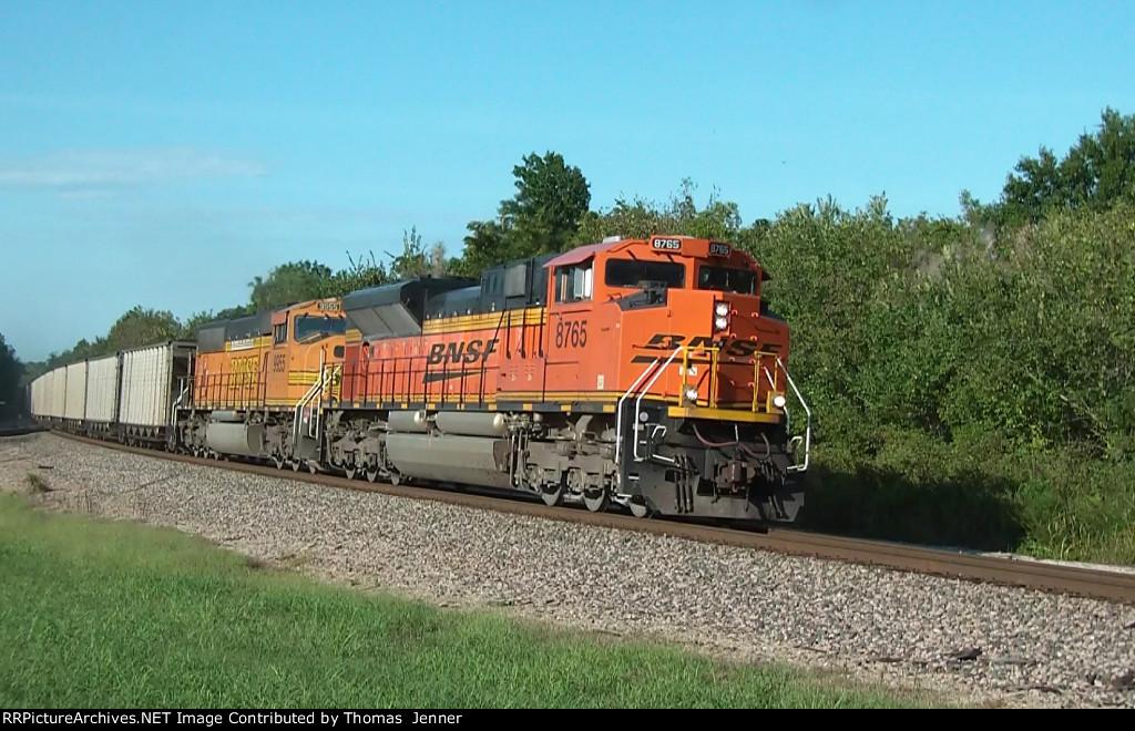 BNSF 8765 West; C-BKMKBB