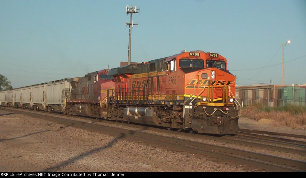 BNSF 6768 West; H-KCKTUL