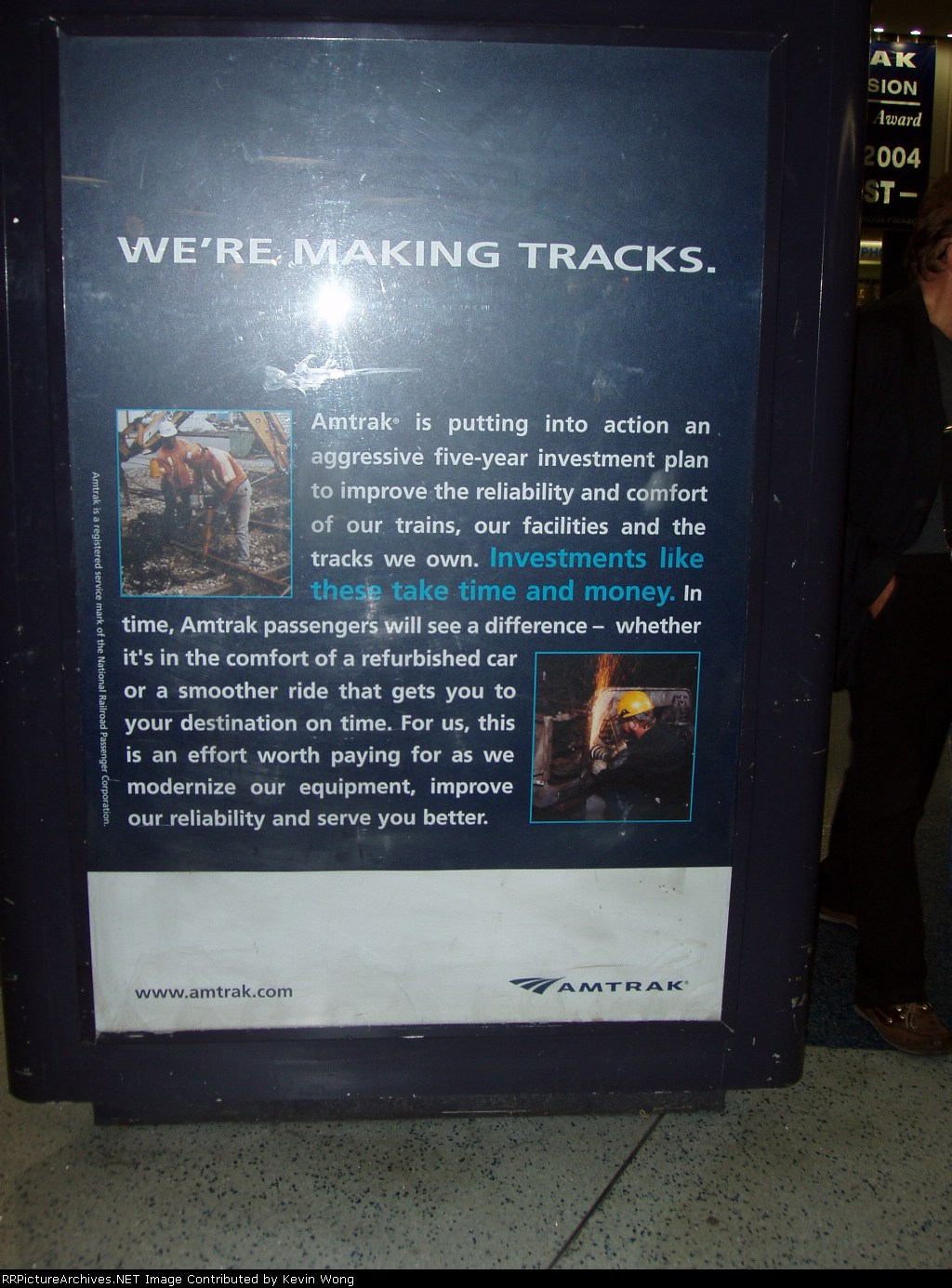 Making tracks poster in Penn Station