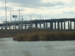 Acela Express #2253 dashes across the Meadowlands and under the NJ Turnpike