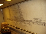 Dock Lift Bridge (Newark) diagram inside Amfleet cafe 48171