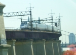 Acela Express #2165 southbound over Hell Gate