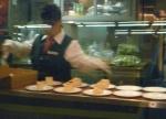 Preparing tonight's dessert on the Silver Meteor in Diner 8527