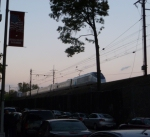 Acela Express #2256 heads north into the sunset