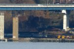 "New York Central ""Hickory Creek"" observation-lounge passing under the new Mario M. Cuomo Tappan Zee Bridge"
