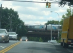 Acela Express #2160 crosses over 32 Avenue
