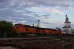 BNSF 4136 Leads a freight into the siding at Old Monroe Mo.