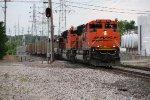 BNSF 9241 Leads a coal drag up the Hannibal Sub.