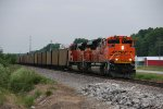 BNSF 9105 Leads a empty coal train up the Hannibal Sub.