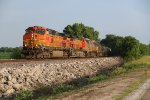 BNSF 4386 Leads nice lash Up into Old Monroe Mo.