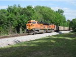 BNSF 6073 leads another empty coal train