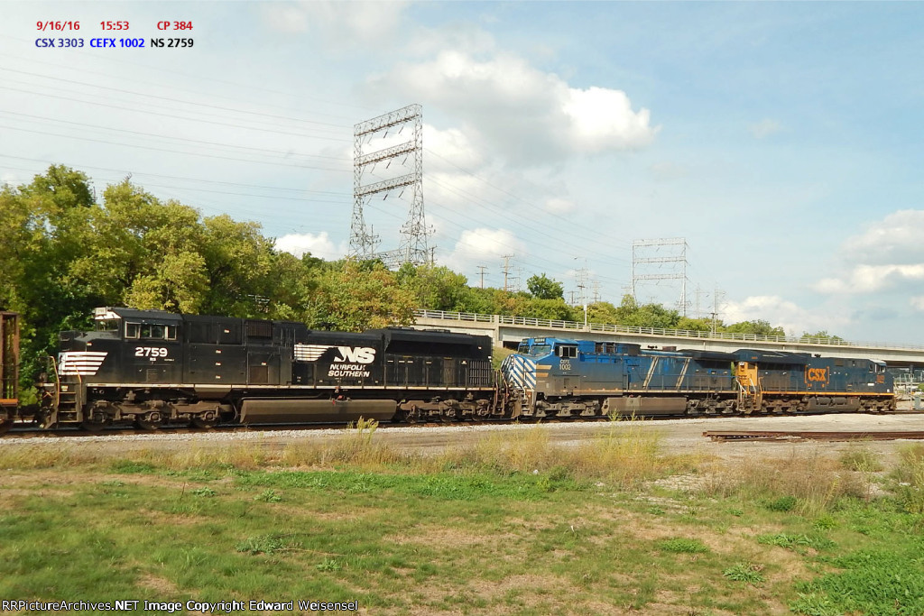 484 rolls in with a most interesting trio led by Tier IV CSX 3303