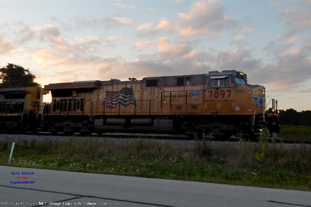 Leading 288 toward Milwaukee with sunset minutes away