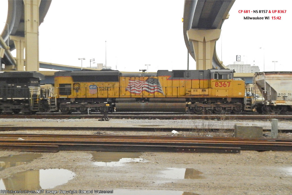 681 ethanol empties head west from the Milwaukee depot