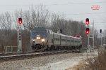 #38 leads Sunday's Hiawatha 331 crashing signals & dashing thru the flurries