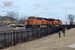 BNSF pair leads CP 281 at mp 90 {68th St.} on the 1st day of spring