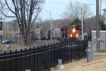 2 BNSF locos lead CP281 at mp 90 {68th St.} on the 1st day of spring