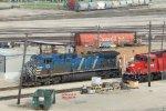 Bluebird sleeping on the Muskego loco ramp