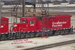 CP 2221 on the ramp Saturday with 2299