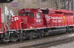 CP 5108 scoots beneath the former Grand, now Wisconsin, Avenue