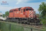 Weed spraying train waits for 470 to head south from Muskego yard
